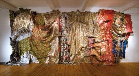 By El Anatsui. Brooklyn Museum of Art