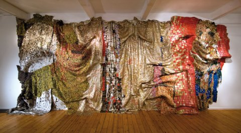 By El Anatsui. Brooklyn Museum of Art